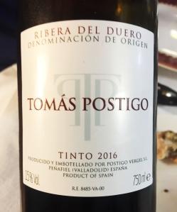 Vino Tomás Postigo